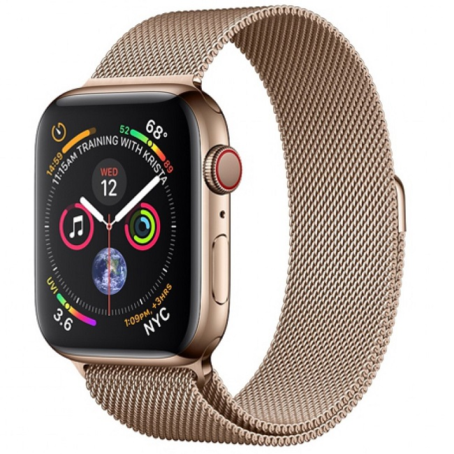 Apple Watch Series 4 44mm (MTV82) GPS + Cellular, Gold Stainless Steel - Gold Milanese Loop