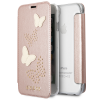 Bao da iPhone XS Max Guess Rose Glitter Butterfly