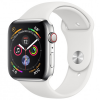 Apple Watch Series 4 44mm (MTV22) GPS + Cellular, Stainless Steel - White Sport Band