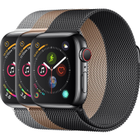 Apple Watch Series 4 44mm (GPS + Cellular) Stainless Steel case with Milanese Loop