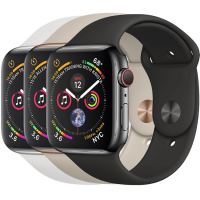 Apple Watch Series 4 44mm (GPS + Cellular) Stainless Steel case with Sport Band