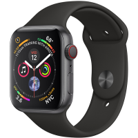Apple Watch Series 4 44mm (MTUW2) GPS + Cellular Space Gray Aluminum Case with Black Sport Band
