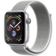 Apple Watch Series 4 44mm (MU6C2) GPS Silver Aluminum Case with Seashell Sport Loop