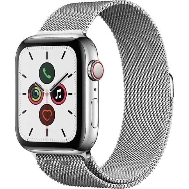 Apple Watch Series 5 40mm (MWWT2) GPS + Cellular Stainless Steel Case with Stainless Steel Milanese Loop