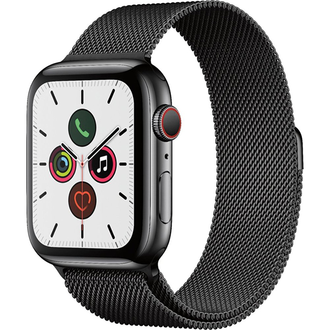 Apple Watch Series 5 44mm (MWW82) GPS + Cellular Space Black Stainless Steel Case with Space Black Milanese Loop