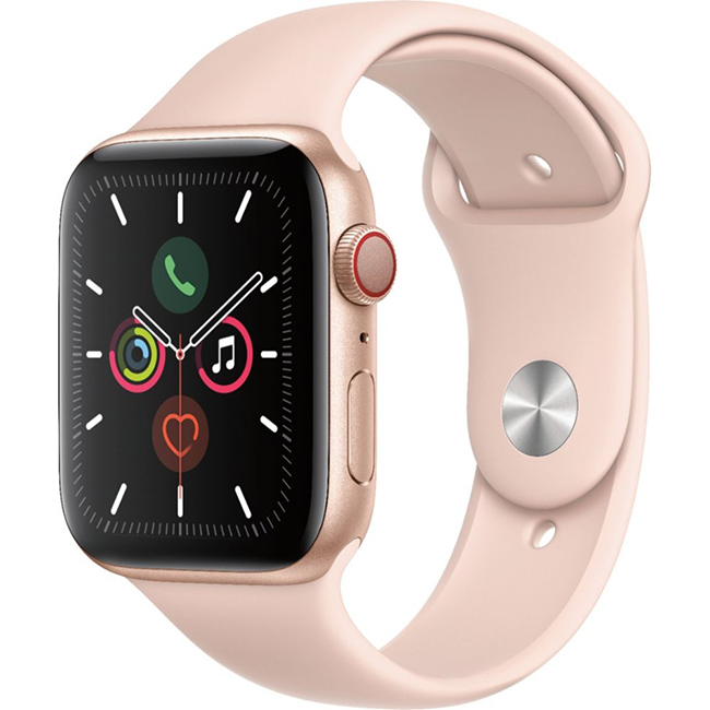 Apple Watch Series 5 44mm (MWW02) GPS + Cellular Gold Aluminum Case with Pink Sand Sport Band
