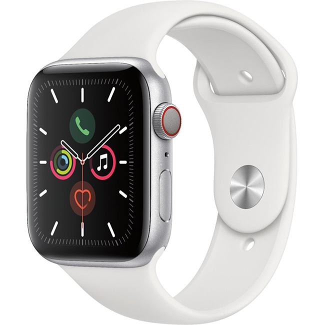Apple Watch Series 5 40mm (MWWN2) GPS + Cellular Silver Aluminum Case with White Sport Band