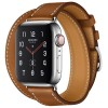Apple Watch Series 5 Hermès 40mm Stainless Steel Case with Fauve Barenia Leather Double Tour