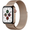 Apple Watch Series 5 44mm (MWW62) GPS + Cellular Gold Stainless Steel Case with Gold Milanese Loop