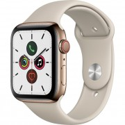 Apple Watch Series 5 40mm (MWWU2) GPS + Cellular Gold Stainless Steel Case with Stone Sport Band
