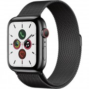 Apple Watch Series 5 40mm (MWWX2) GPS + Cellular Space Black Stainless Steel Case with Space Black Milanese Loop