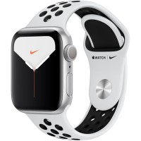 Apple Watch Series 5 Nike+ 44mm (MX3V2) GPS Silver Aluminum Case with Pure Platinum/Black Nike Sport Band