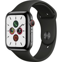Apple Watch Series 5 44mm (MWW72) GPS + Cellular Space Black Stainless Steel Case with Black Sport Band