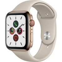 Apple Watch Series 5 44mm (MWW52) GPS + Cellular Gold Stainless Steel Case with Stone Sport Band