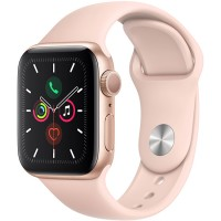 Apple Watch Series 5 40mm (MWV72) GPS Gold Aluminum Case with Pink Sand Sport Band