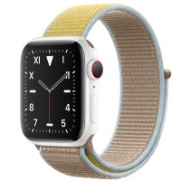 Apple Watch Edition 44mm GPS + Cellular White Ceramic Case with Camel Sport Loop