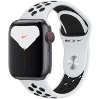 Apple Watch Series 5 Nike+ 44mm (MX392) GPS + Cellular Silver Aluminum Case with Pure Platinum/Black Nike Sport Band