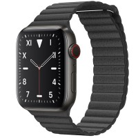 Apple Watch Edition 44mm GPS + Cellular Space Black Titanium Case with Black Leather Loop