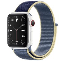 Apple Watch Edition 44mm GPS + Cellular White Ceramic Case with Alaskan Blue Sport Loop