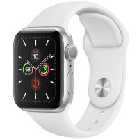 Apple Watch Series 5 40mm (MWV62) GPS Silver Aluminum Case with White Sport Band
