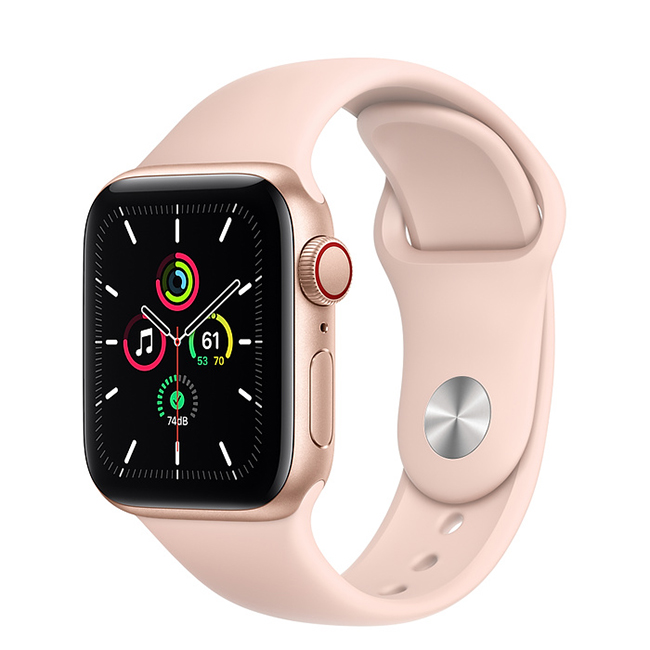 Apple Watch SE 40mm (MYEH2) GPS + Cellular Gold Aluminum Case with Pink Sand Sport Band