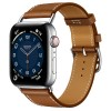 Apple Watch Series 6 Hermès 44mm Silver Stainless Steel Case with Attelage Single Tour