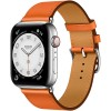 Apple Watch Series 6 Hermès 44mm Silver Stainless Steel Case with Orange Single Tour