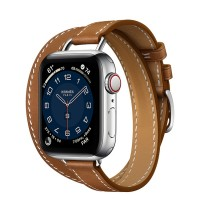 Apple Watch Series 6 Hermès 40mm Silver Stainless Steel Case with Attelage Double Tour