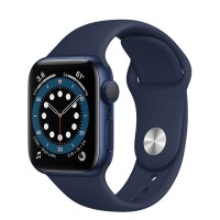 Apple Watch Series 6 40mm (MG143) GPS Blue Aluminum Case with Deep Navy Sport Band