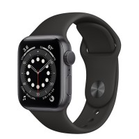 Apple Watch Series 6 40mm (MG133) GPS Space Gray Aluminum Case with Black Sport Band