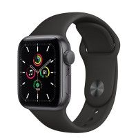 Apple Watch SE 40mm (MYDP2) GPS Space Gray Aluminum Case with Black Sport Band
