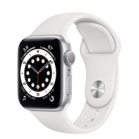 Apple Watch Series 6 40mm (MG283) GPS Silver Aluminum Case with White Sport Band