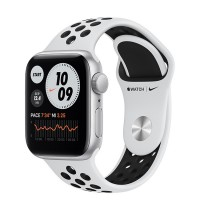 Apple Watch SE Nike+ 40mm (MYYD2) GPS Silver Aluminum Case with Pure Platinum/Black Nike Sport Band