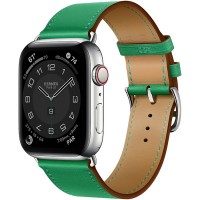 Apple Watch Series 6 Hermès 44mm Silver Stainless Steel Case with Bambou Single Tour