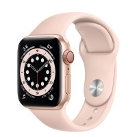 Apple Watch Series 6 40mm (M06N3) GPS + Cellular Gold Aluminum Case with Pink Sand Sport Band