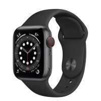 Apple Watch Series 6 44mm (MG2E3) GPS + Cellular Space Gray Aluminum Case with Black Sport Band
