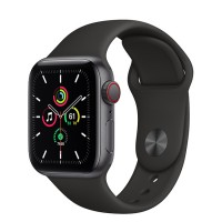 Apple Watch SE 40mm (MYED2) GPS + Cellular Space Gray Aluminum Case with Black Sport Band
