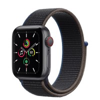 Apple Watch SE 40mm (MYEL2) GPS + Cellular Space Gray Aluminum Case with Charcoal Sport Loop