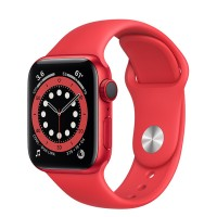 Apple Watch Series 6 40mm (M06R3) GPS + Cellular (PRODUCT)Red Aluminum Case with Red Sport Band