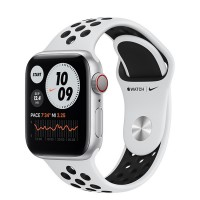 Apple Watch Series 6 Nike+ 40mm (M06J3) GPS + Cellular Silver Aluminum Case with Pure Platinum/Black Nike Sport Band
