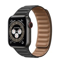 Apple Watch Series 6 Edition 40mm Space Black Titanium Case with Black Leather Link