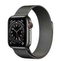 Apple Watch Series 6 40mm (M06Y3) GPS + Cellular Graphite Stainless Steel Case with Graphite Milanese Loop