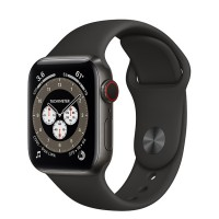 Apple Watch Series 6 Edition 44mm Space Black Titanium Case with Black Sport Band