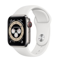 Apple Watch Series 6 Edition 44mm Silver Titanium Case with White Sport Band
