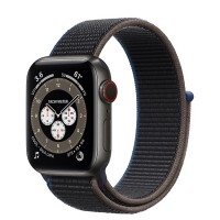 Apple Watch Series 6 Edition 40mm Space Black Titanium Case with Charcoal Sport Loop