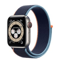 Apple Watch Series 6 Edition 40mm Silver Titanium Case with Navy Sport Loop