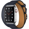 Apple Watch Hermès Series 4 40mm Stainless Steel Case with Bleu Indigo Swift Leather Double Tour