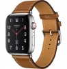 Apple Watch Hermès Series 4 40mm Stainless Steel Case with Fauve Barenia Leather Single Tour