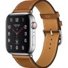 Apple Watch Hermès Series 4 44mm Stainless Steel Case with Fauve Barenia Leather Single Tour