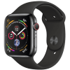 Apple Watch Series 4 44mm (MTV52) GPS + Space Black Stainless Steel Case with Black Sport Band